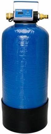 Blaue Mischbettharzflasche