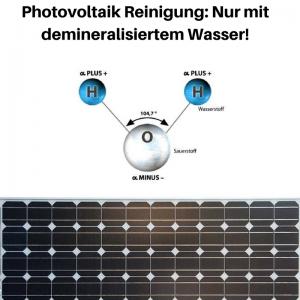 Photovoltaik Reinigung - Nur mit entmineralisiertem Wasser