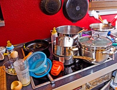 Reinigungsgeräte in der Küche